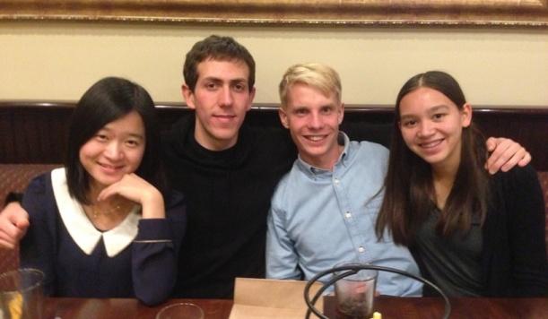 Green Grid Radio Fall Quarter team photo (left-to-right; Mei Shen, Adam Pearson, Erik Olesund, Kara Fong)