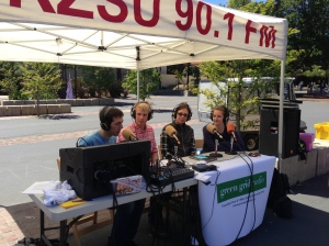 Green Grid Radio broadcasting live from White Plaza