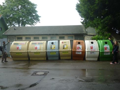 Waste bins in Germany. Photo by Diane Wu.