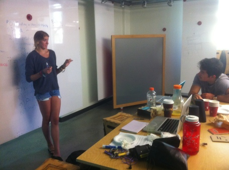 Mallory leads an interviewing workshop at the d.school
